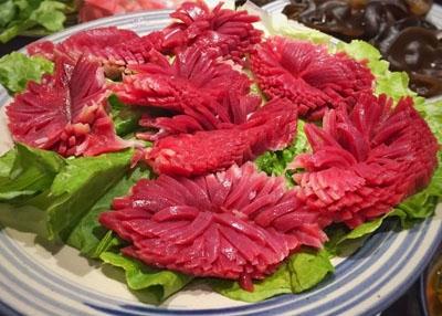 火锅涮煮菜品-功夫鸭胗花