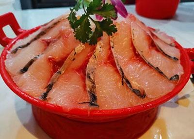 火锅涮煮菜品-鲜鱼片
