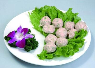 火锅涮煮菜品-香菜肉丸